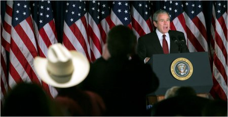 Bush at a Cattlemen's Convension